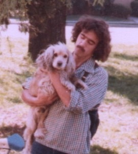 The author with his cocker spaniel, 1978.