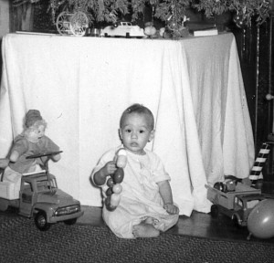 David Charles Biddle at Christmas Time, 1958.